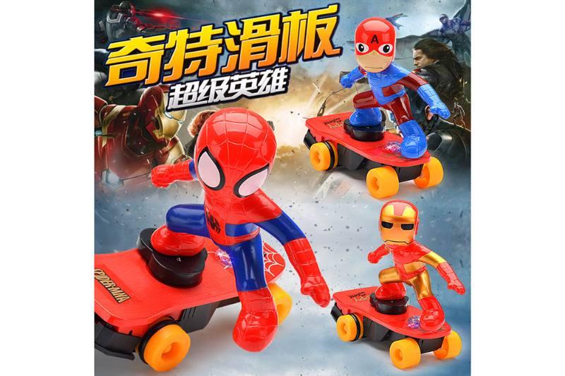 Cartoon electric toy strange skateboard superhero No.TA259398