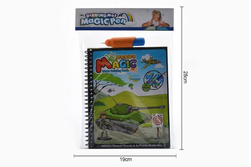 Educational learning fun toy magic military doodle book No.TA255274