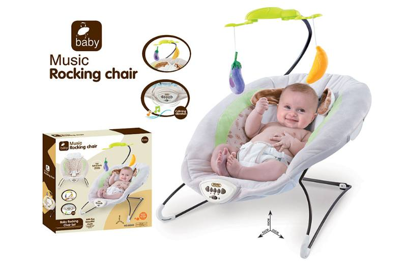 Baby bunny rocking chair music vibration function NO.TA262211