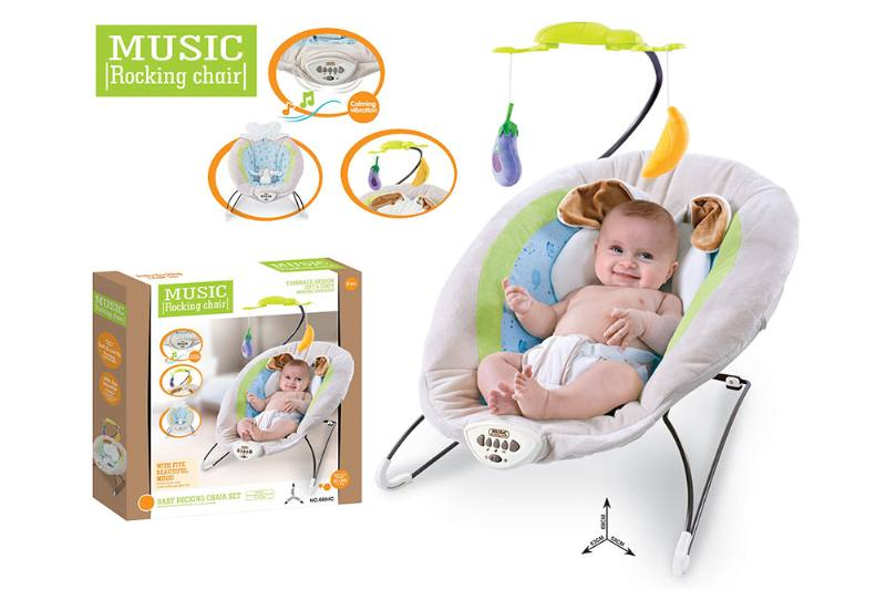 Baby bunny rocking chair music vibration function NO.TA262212