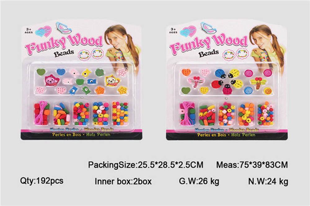 Puzzle DIY Beads Jewelry Toys Fashion Wood Beads No.TA261442