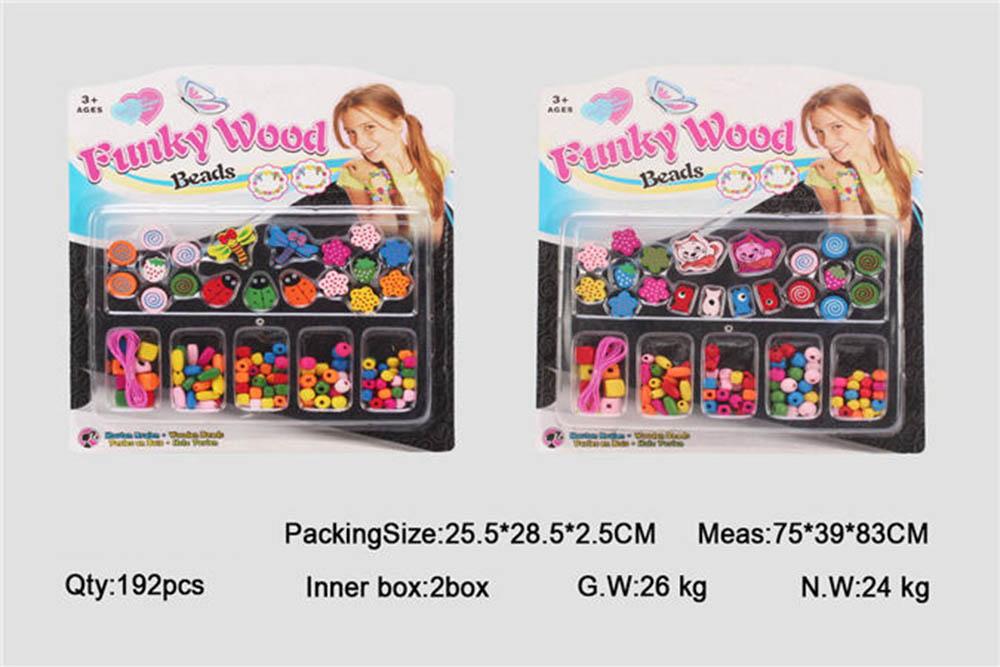 Puzzle DIY Beads Jewelry Toys Fashion Wood Beads No.TA261443