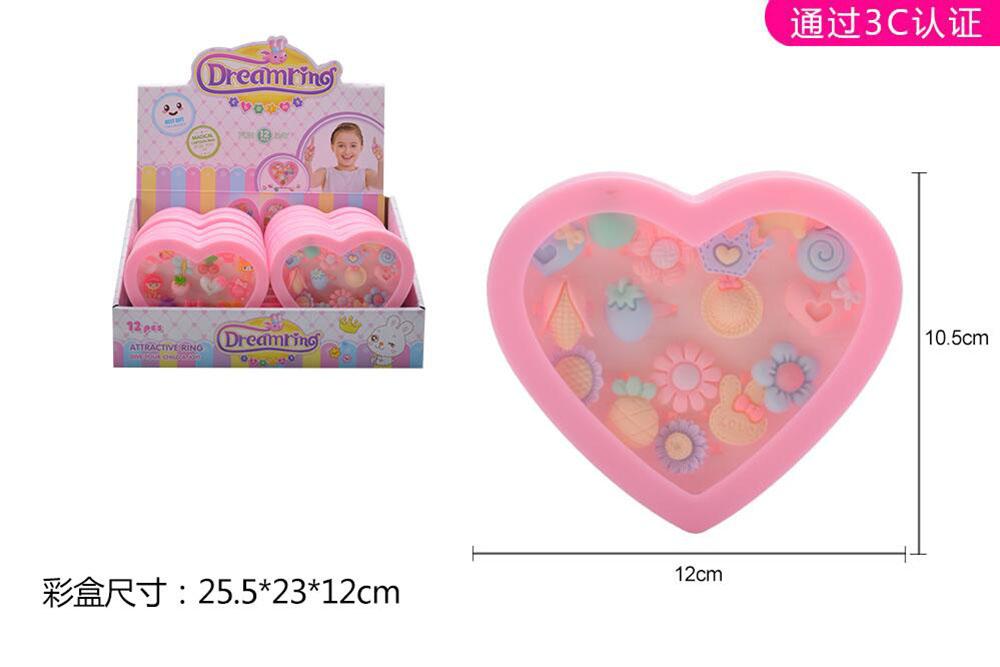 Beaded Jewelry Beads Heart Ring Box (12 boxes) No.TA261562