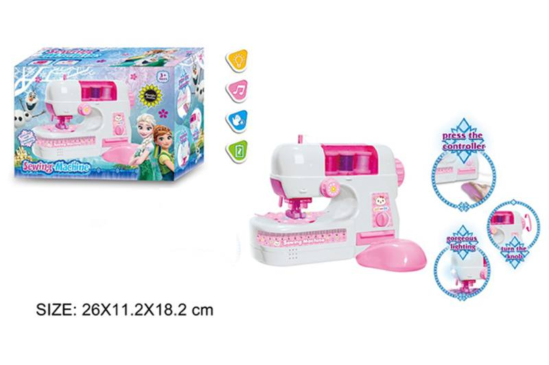 Play house toy electric sewing machine with light No.TA255008