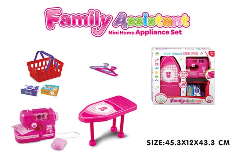 House toy, electric sewing machine, ironing board set No.TA255018