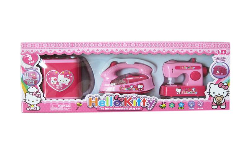 Kitchen play set to ys electric appliance washing machine + iron + sewing machin No.TA258345