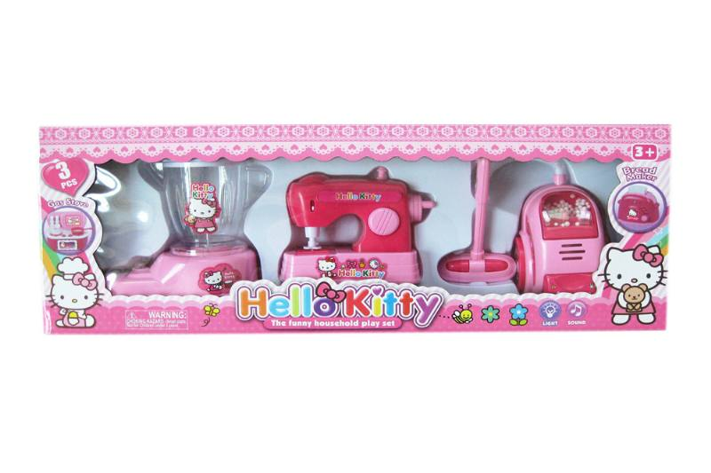 Kitchen play set toys electric appliance soymilk machine + sewing machine + vacu No.TA258349