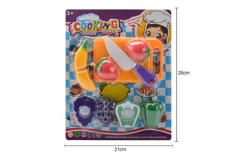 Pretend play house toys kictchen food fruit play set No.TA259992