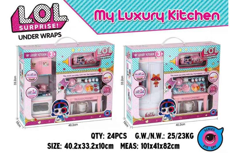 Simulation Little Girl House Kitchen Cutlery Capsule Surprise Kitchen Set No.TA260261