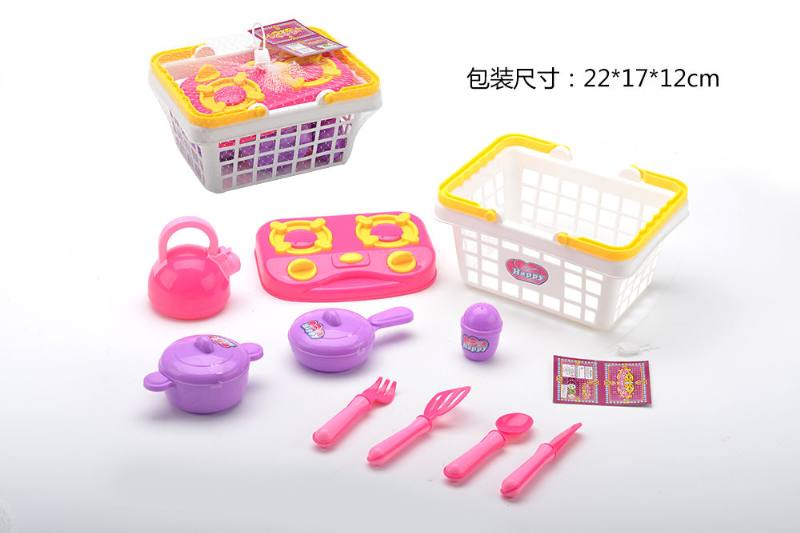 Play house toys cutlery basket No.TA260783