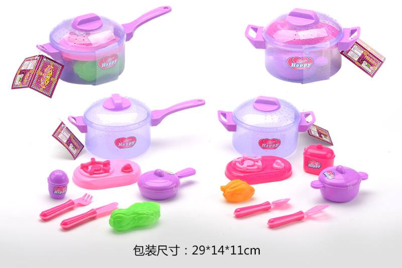 House toy, tableware transparent flash pot 2 No.TA260788