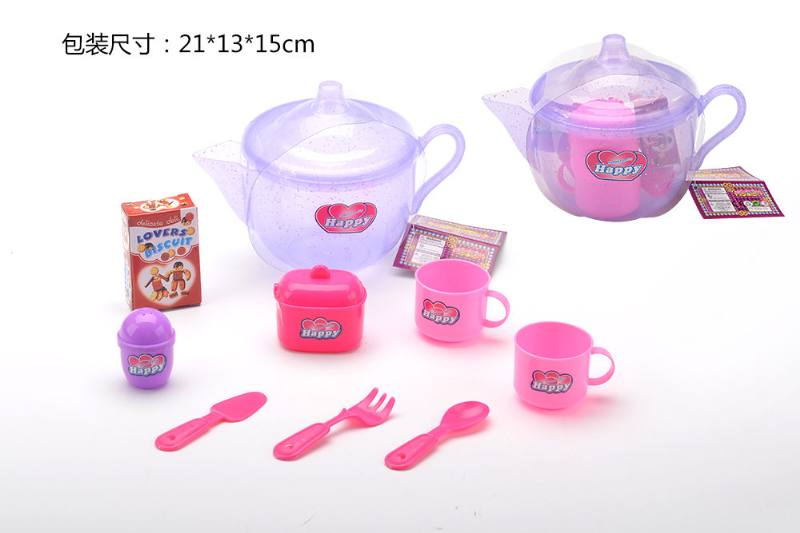 Tea set puzzle DIY toy play house toy tea set big flash pot No.TA260792