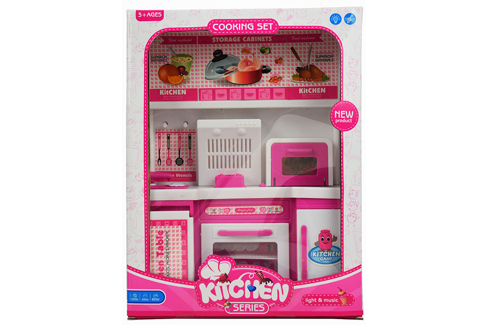 Pretend play house toys Kitchen + Barbie Barbie Live Light music No.TA261122