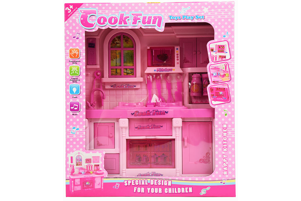 Pretend play house toys Kitchen Barbie Live Light music No.TA261123