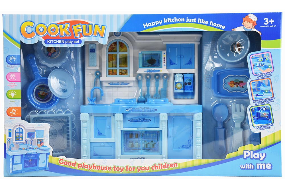 Pretend play house toys Kitchen Blue Live Light music No.TA261129