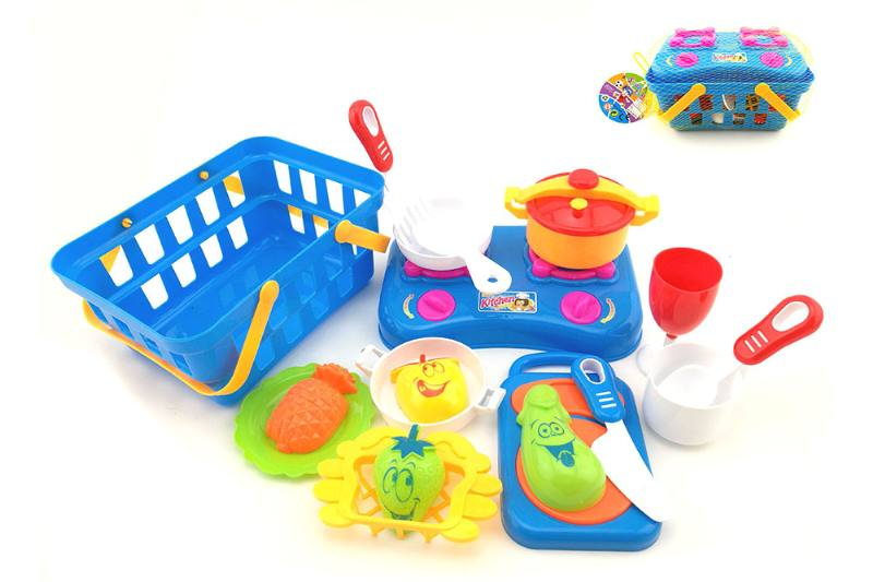 Play house kitchen toy cooking tableware sets intake basket + tableware 17 Piece No.TA255068