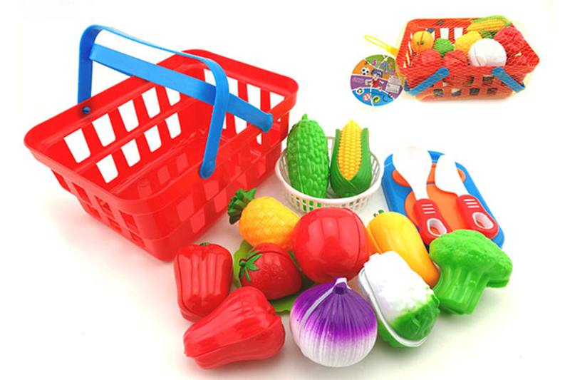 Play house kitchen toy cooking tableware sets intake basket + fruit and vegetabl No.TA255069