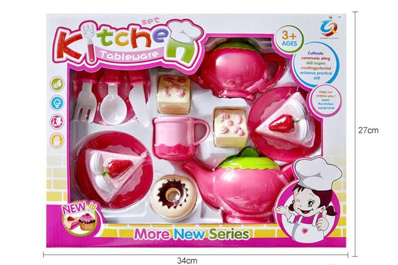 House toy pink tea set pink tea set No.TA255283