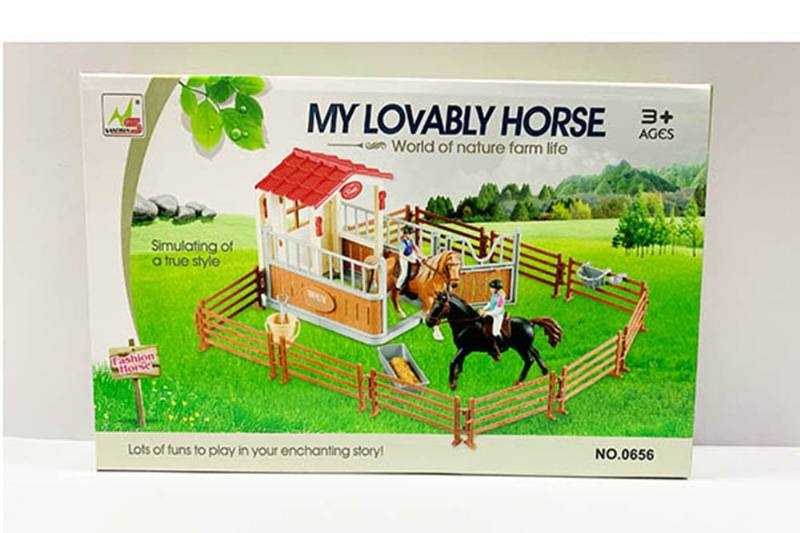 Play house toy simulation horse farm pretend play set No.TA260183