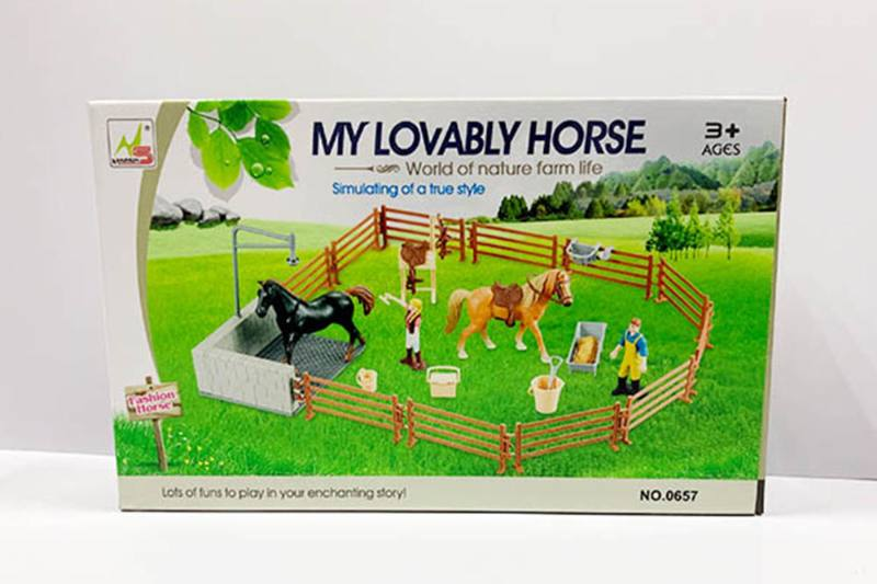 Play house toy simulation horse farm pretend play set No.TA260184
