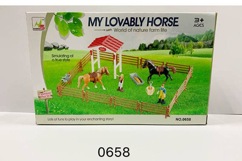 Play house toy simulation horse farm pretend play set No.TA260185