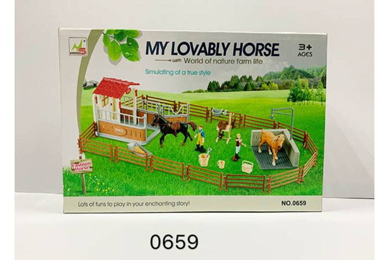 Play house toy simulation horse farm pretend play set No.TA260186