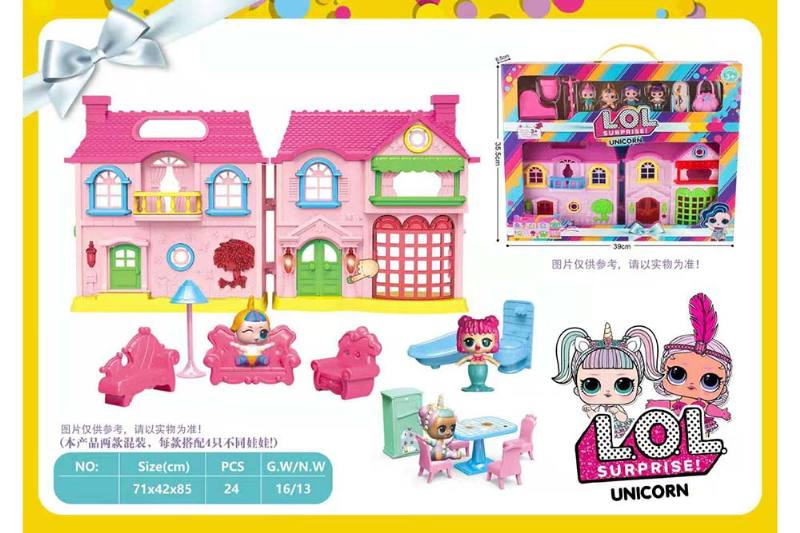 Play House Fun Puzzle Game Surprise Doll Villa Set No.TA260258