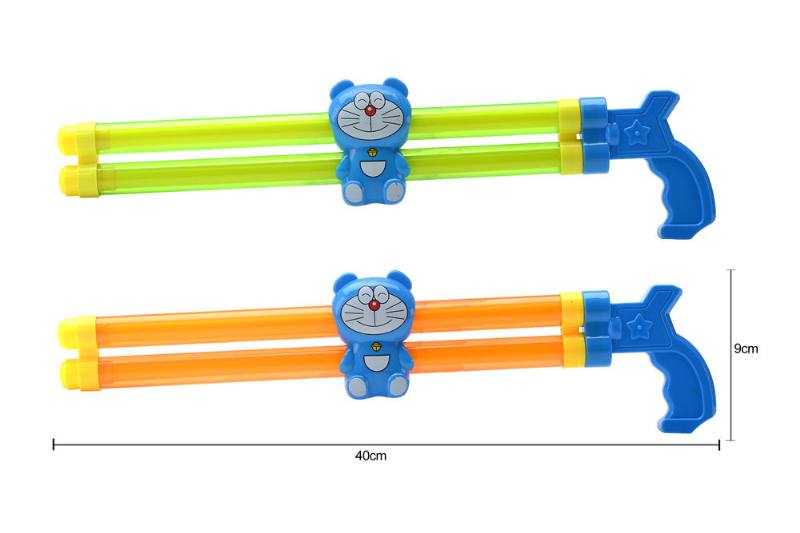 Water gun water cannon toy 40CM double tube jingle cat water cannon NO.TA261796