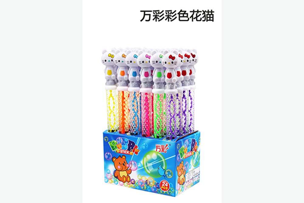 Bubble toy 38CM color flower cat bubble water bubble stick No.TA261477
