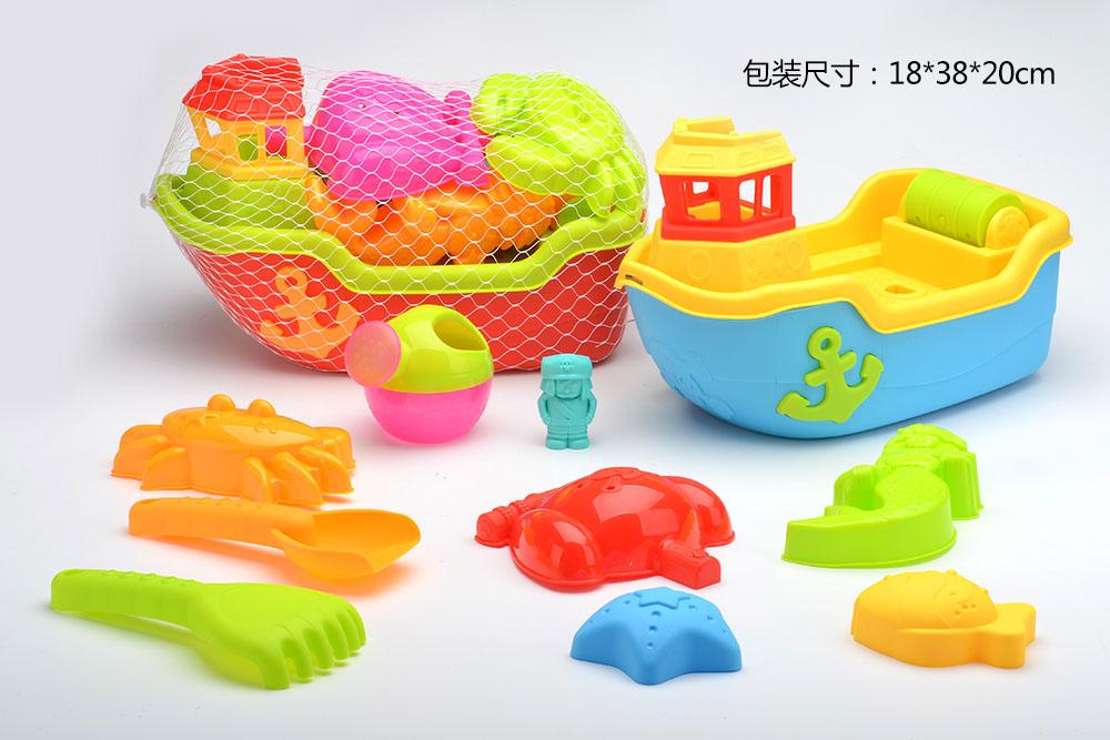 Beach toys set boat 10pcs No.TA261228