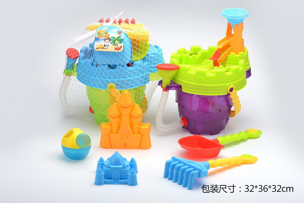 Beach toys set bucket 8pcs No.TA261232