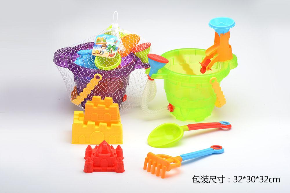 Beach toys set bucket 7pcs No.TA261233