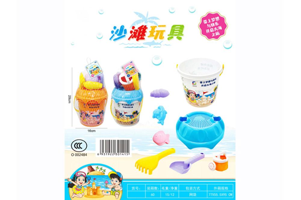 Beach toys, 8 sets of beach buckets, beach toys No.TA261392
