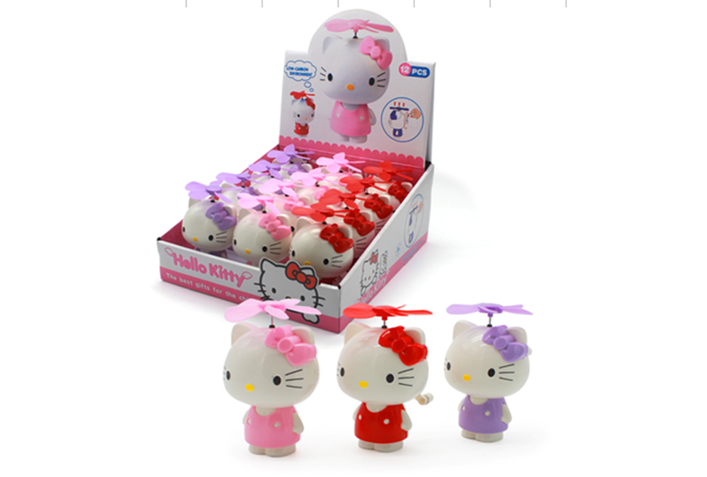 Fan toy HELLO KITTY hand crankNo.TA255895