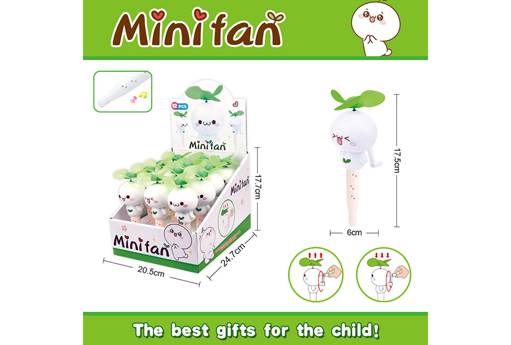 Fan toy long grass Yan Tuanzi with whistle hand fanNo.TA255896