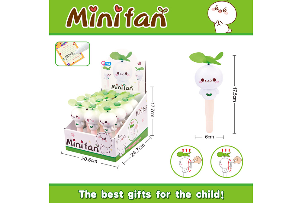 Fan toy long grass Yan Tuanzi with pen hand fanNo.TA255897
