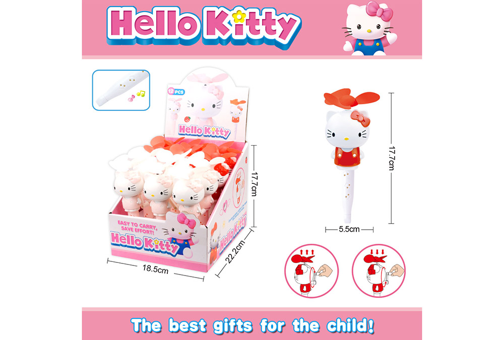 Fan toy Heiio Kitty with whistle hand fanNo.TA255898