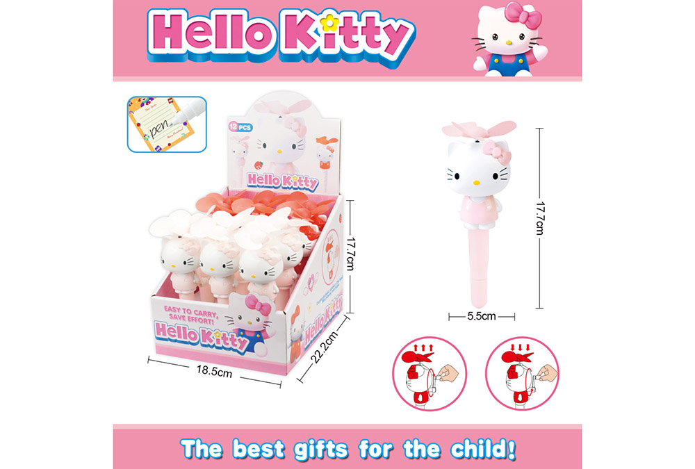 Fan toy Heiio Kitty with pen hand fanNo.TA255899