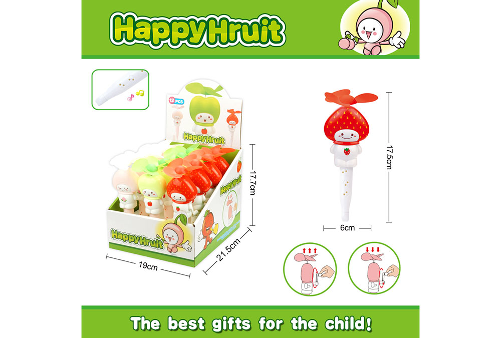Fan toy creative fruit with whistle hand fanNo.TA255904