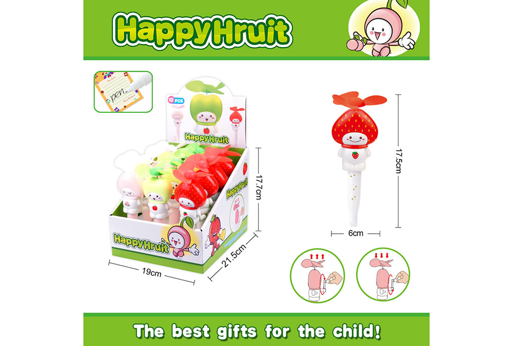 Fan toy creative fruit with pen hand fanNo.TA255905