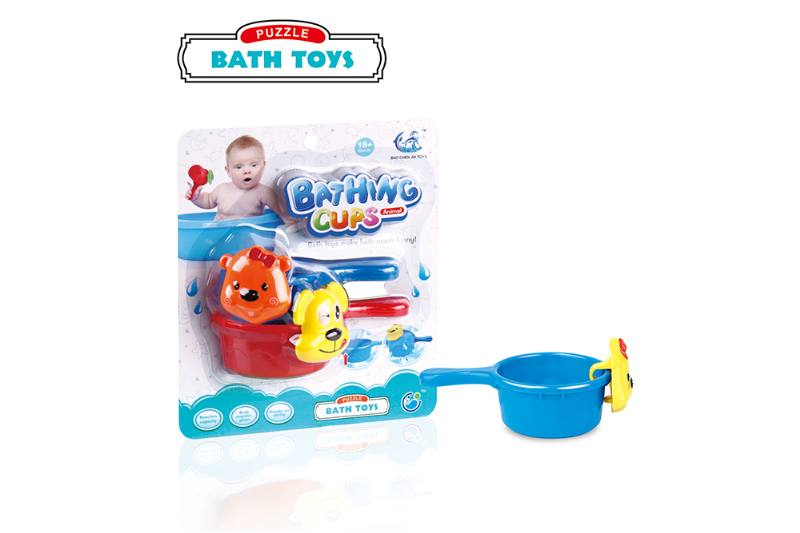 Mug + small cup + animal head baby bath toy No.TA254696