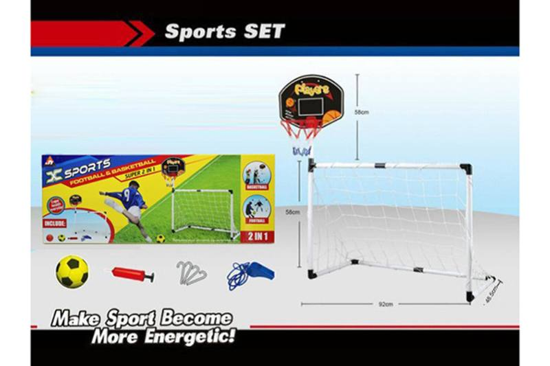 Sports toys set 2 in one football gate No.TA257351