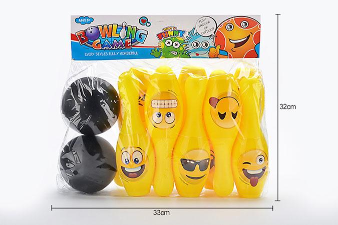 Bowling Toys 22cm WeChat Expression Bowling 10 Bottles 2 BallsNo.TA255934