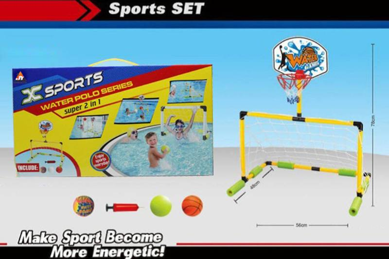 Sport toys Water Football Gate set(2 in 1) NO.TA261645