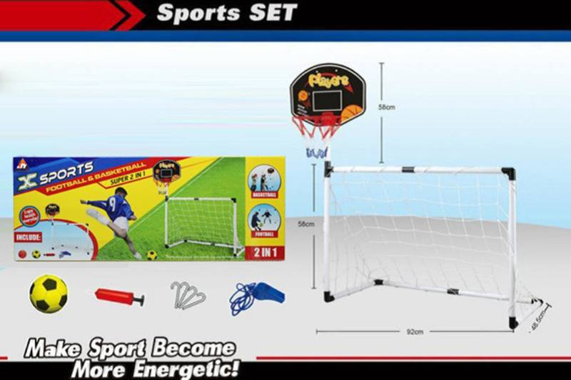 Sports Toy Set 2-in-1 Football Gate NO.TA261648