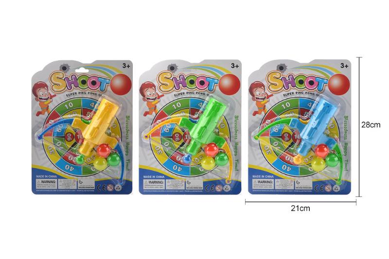 Sports toys, bow and arrow table tennis guns, with 3 table tennis balls No.TA260602