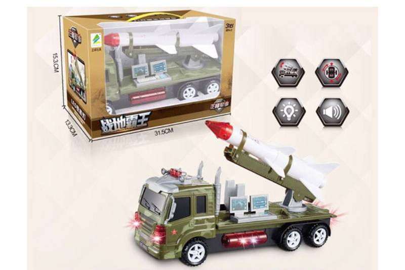 Military toy electric air defense missile vehicle No.TA254804