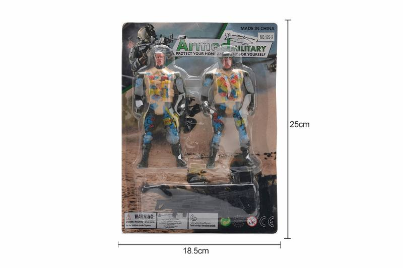 Military model toy sucker soldier + gun No.TA257663