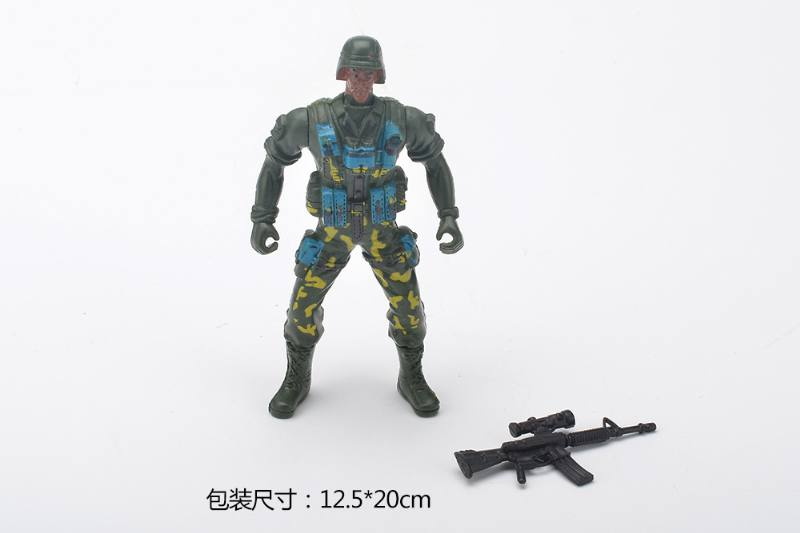 Military model toy Military + gun (2 mixed) No.TA259237