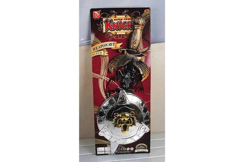 Simulation weapon toy bronze sword + plating shield No.TA257553